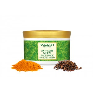 Buy Vaadi Herbals Anti Acne Neem Face Pack With Clove And Turmeric - Nykaa