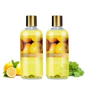 Buy Vaadi Herbals Refreshing Lemon & Basil Shower Gel (Pack of 2) - Nykaa