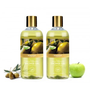 Buy Vaadi Herbals Breezy Olive & Green Apple Shower Gel (Pack of 2) - Nykaa