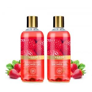 Buy Vaadi Herbals Blushing Strawberry Shower Gel (Pack of 2) - Nykaa