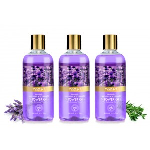 Buy Vaadi Herbals Heavenly Lavender & Rosemary Shower Gel (Pack of 3) - Nykaa