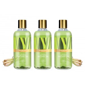 Buy Vaadi Herbals Enticing Lemongrass Shower Gel (Pack of 3) - Nykaa