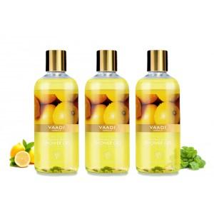 Buy Vaadi Herbals Refreshing Lemon & Basil Shower Gel (Pack of 3) - Nykaa