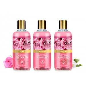 Buy Vaadi Herbals Enchanting Rose & Mogra Shower Gel (Pack of 3) - Nykaa
