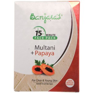 Buy Herbal Banjara's 15 Minute Multani + Papaya Face Pack (5 Sachets Inside) - Nykaa