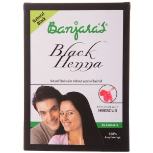 Buy Banjara's Black Henna + Hibiscus Natural Black (5 Sachets Inside) - Nykaa