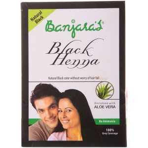 Buy Herbal Banjara's Black Henna + Aloe Vera Natural Black (5 Sachets Inside) - Nykaa