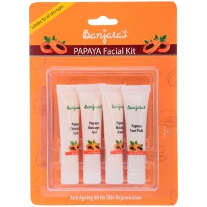 Buy Banjara's Papaya Facial Kit (4 Tubes Inside) - Nykaa