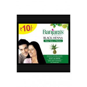 Buy Banjara's Black Henna Aloevera + Henna (Pack of 12) - Nykaa