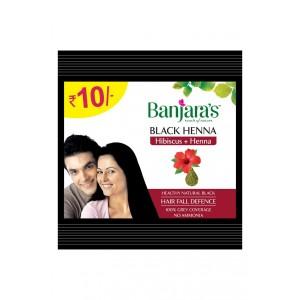 Buy Banjara's Black Henna Hibiscus + Henna (Pack of 12) - Nykaa