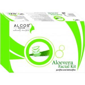 Buy Herbal Alcos Aloevera Facial Kit - Nykaa