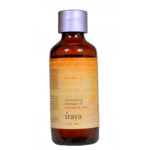 Buy Herbal Iraya Stimulating Body Massage Oil (Shatapadi Taila) - Nykaa