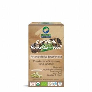 Buy Organic Wellness Heal Breath-Well (Asthma Relief Supplement) - Nykaa
