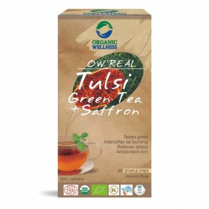 Buy Organic Wellness Real Tulsi Green Tea + Saffron - Nykaa