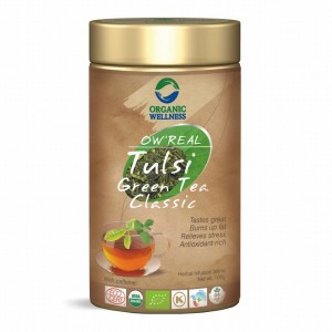 Buy Organic Wellness Real Tulsi Green Tea Classic Tin - Nykaa