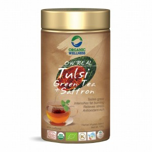 Buy Organic Wellness Real Tulsi Green Tea + Saffron Tin - Nykaa