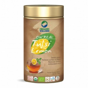 Buy Organic Wellness Real Tulsi Lemon Tea Tin - Nykaa