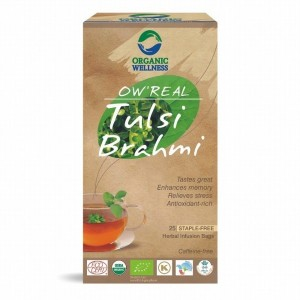 Buy Organic Wellness Real Tulsi Brahmi Tea - Nykaa