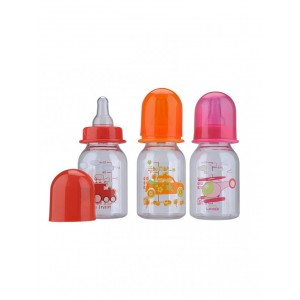 Buy Mee Mee Premium Feeding Bottle Set - (3 pcs) (Pink-Orange-Red) - Nykaa