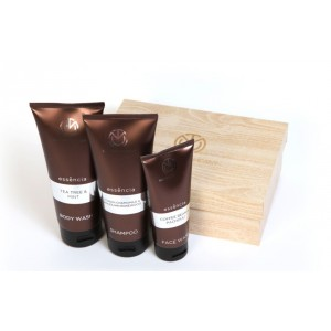 Buy The Man Company Essencia Men'S Grooming Kit Set Of (Face Wash, Body Wash and Shampoo) - Nykaa
