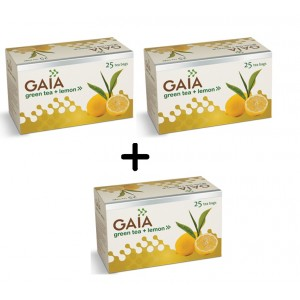 Buy Gaia Green Tea Lemon (Buy 2 Get 1 Free) - Nykaa