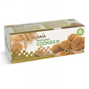 Buy Gaia Multi-Grain Cookies - Nykaa