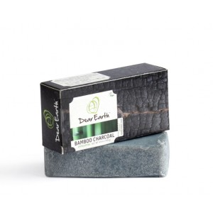 Buy Dear Earth Bamboo Charcoal Exfoliating Organic Soap -140gm - Nykaa