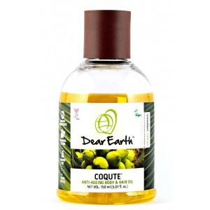 Buy Dear Earth CoQute Body & Hair Oil, Anti-ageing Organic Oil -150ml - Nykaa
