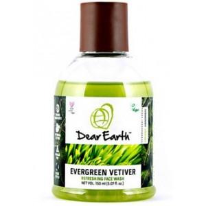 Buy Dear Earth Evergreen Vetiver Refreshing Organic Face Wash -150ml - Nykaa