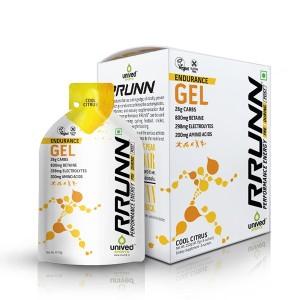 Buy Unived RRUNN Endurance Gel Cool Citrus Flavour - 6 Servings - Nykaa