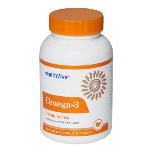 Buy HealthViva Omega - 3 Supplement - Nykaa
