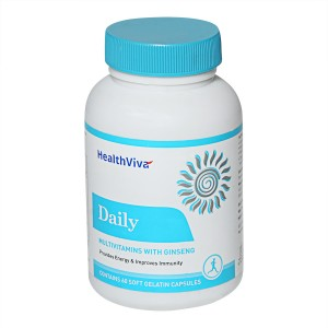 Buy HealthViva Daily Multivitamin With Ginseng - Unflavoured - Nykaa