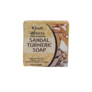 Buy Abeers Khadi Pure Essence Turmeric Sandal Soap With Essential Oils - Nykaa