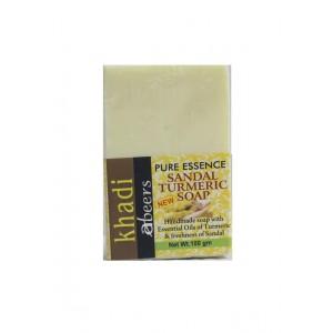 Buy Abeers Khadi pure Essence Turmeric Sandal Soap - Nykaa