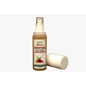 Buy Herbal Abeers Khadi Abeers Saffron And Neem Face Wash - Nykaa