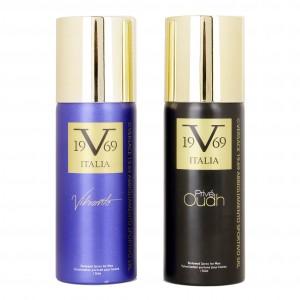 Buy Versace 19.69 Abbigliamento Sportivo SRL Prive Oudh + Vibrante Deodorant Gift Set For Men - Nykaa