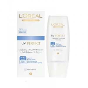 Buy Herbal L'Oreal Paris UV Perfect Anti-Dullness - Purple Tint - Nykaa