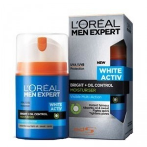 Buy L'Oreal Paris Men Expert White Activ Oil Control Moisturising Fluid SPF 20 PA+++ - Nykaa