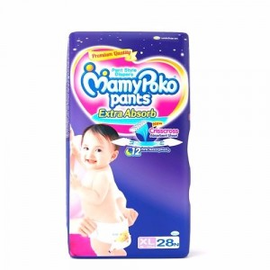 Buy MamyPoko Pants Extra Absorb Diapers - XL (28 Pieces) - Nykaa