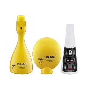 Buy BBLUNT Full On Volume Shampoo + Conditioner + Mini Climate Control, Anti-Frizz Leave In Cream - Nykaa