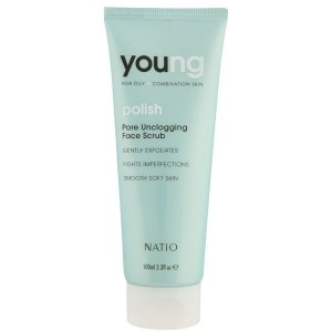 Buy Natio Young Polish Pore Unclogging Face Scrub - Nykaa