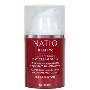 Buy Natio Renew Line & Wrinkle Day Cream SPF 15 - Nykaa