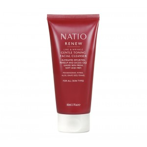 Buy Natio Renew Line & Wrinkle Gentle Toning Facial Cleanser - Nykaa