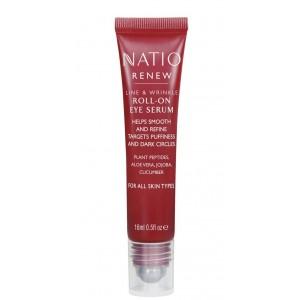 Buy Natio Renew Line & Wrinkle Roll On Eye Serum - Nykaa