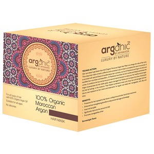 Buy Arganic by Aryanveda 100% Organic Moroccan Argan Hair Mask - Nykaa