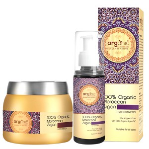 Buy Herbal Arganic by Aryanveda 100% Moroccan Argan Hair Shampoo & Hair Mask Comb Pack - Nykaa