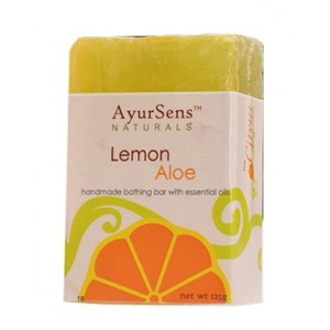 Buy AyurSens Lemon Aloe Bathing Bar - Nykaa
