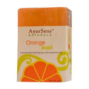 Buy AyurSens Orange Basil Bathing Bar - Nykaa