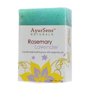 Buy AyurSens Rosemary Lavender Bathing Bar - Nykaa