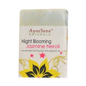 Buy AyurSens Night Blooming Jasmine Neroli Bathing Bar - Nykaa